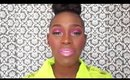 Spring pinks and glitter makeup tutorial look #springbreakwithesha