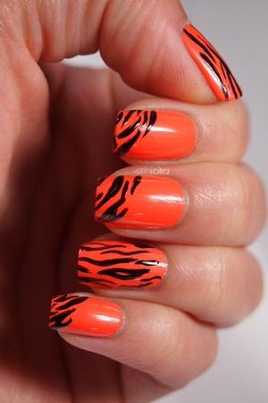 31 day nail challenge: Day 13 animal print