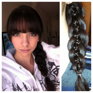 This is a 5 strand braid with two mini braids inside.