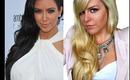 Side-Swept Soft Curls Kim Kardashian Hairstyle