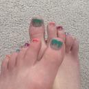 Summer toenail design