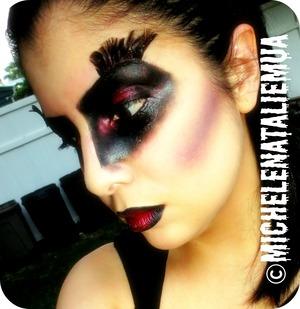 Halloween look inspired by Edgar Allen Poe's The Raven