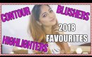 2018 FAVOURITES   BLUSHERS, CONTOURS & HIGHLIGHTERS   Stacey Castanha