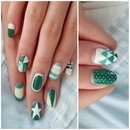 green mix and match mani