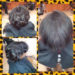 wash, blowdry, flat iron, curls