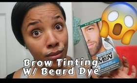 Brow Tinting At Home | DIY Brow grooming at home| Leiydbeauty