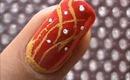 Fire n Ice! easy nail art for short nails-beginners nail art design- home nail designs tutorial