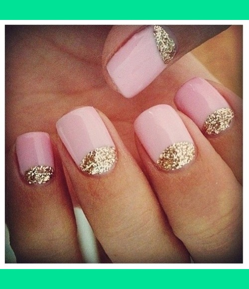Pink and gold nails   Crystalnailboutique c.\'s Photo   Beautylish