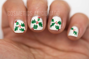 http://www.cosmeticsaficionado.com/christmas-holly-nail-art-nubs-linkup/