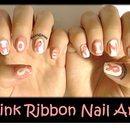 Pink Ribbon Nail Art (Breast Cancer Awareness Month)