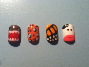 Cheetah, butterfly, cow