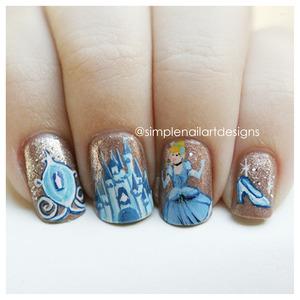 Cinderella Nail Art! Instagram: simplenailartdesigns http://www.youtube.com/simplenailartdesigns
