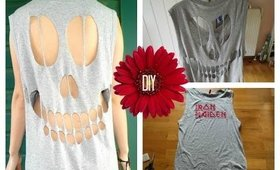 DIY: Skull Cut Out T-Shirt | 2014