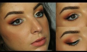 Orange & Gold with a Pop of Blue | Makeup Tutorial ♥