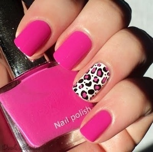 Pink & Leopard what a perfect combination!!! #Nails #Nail care #Hoof #Onyx Brands