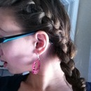 braid down front side