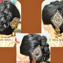Simple Easy Knotted Hair Updo