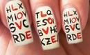Valentine's Day Special 2/10 Love Letters Nail Art Tutorial