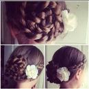 Flower updo🌸🌺