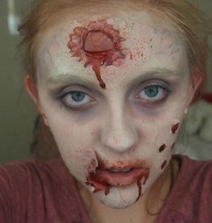 This is a zombie look that I created for a friend!