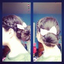 Dutch sock bun