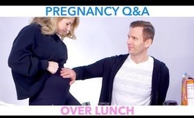Pregnancy Q&A Over Lunch 🤰🏼🍕