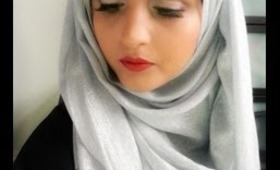 Eid inspired hijab look with 2 lovely headpieces