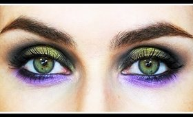Fall Makeup Tutorial Green & Purple Smokey Eye | LetzMakeup