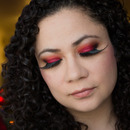 Red Smoky Eye With Dramatic Lashes