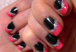 Pink and black is a great colour combination. I dressed it up a bit with a dash of silver sparkle! The video for it can be found here http://www.youtube.com/watch?v=8Yl6YEeXo5E