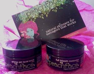 Teen Range (L-R): Shine on Facial Scrub & Full Bloom Moisturiser