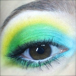 To celebrate the end of spring and beginning of summer, at least in the northern hemisphere, I created this fresh and colourful makeup. I used bright Sugarpill shadows that scream spring to me, like Mochi and Acidberry with Buttercupcake and a peachy Inglot shadow to offset the cool tones.   http://michtymaxx.blogspot.com.au/2013/05/spring-fling.html