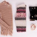 Beige sweater w/ Tribal leggings