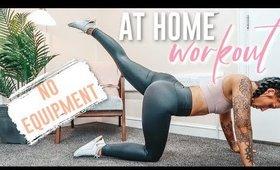 HOME WORKOUT (NO EQUIPMENT)   FOLLOW ALONG   FREE GUIDE