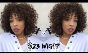 Natural Looking CURLY WIG UNDER $25! Sensationnel Instant Weave | Wig Review Wednesday