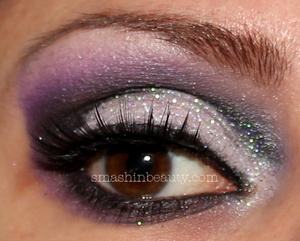 more product details and pictures  http://smashinbeauty.com/dramatic-purple-silver-glitter-eyeshadow/
