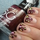 Chocolate Sauce nail art