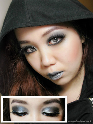 A look I did inspired by my teenage love for silver and black.