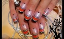 Easy, Halloween French, Nail Art Design Tutorial - ♥ MyDesigns4You ♥