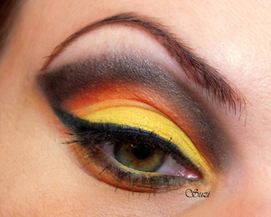 """Make-up part of """"Four Elements Challenge"""" by Taya"""