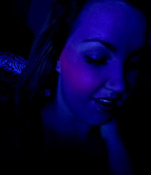 Evil Shades Blush in Blacktalk, glows under a blacklight! - http://electricallure.blogspot.com/2012/01/evil-shades-blush.html