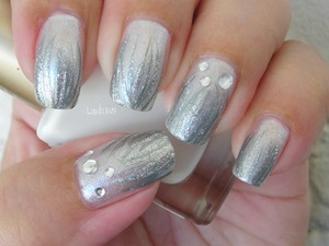 Sinful Colors - Out of this World LA Colors Art Deco - Silver Kiss - Silver Glitter Rhinestones