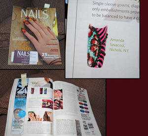I was featured in a Nail Art Magazine!!