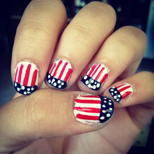 The nail polish lokk i wore on the 4th of July.