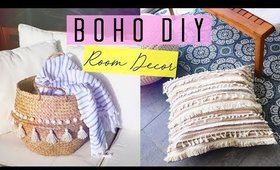 Boho DIY Room Decor | Floor Pouf & IKEA Basket ♡