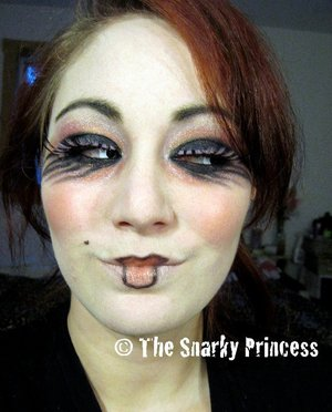 Gothic Dolly 2010 Halloween Inspirations  http://snarky-princess.com/2010/10/27/get-the-look-goth-dolly/