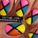 Bright Colorblock Nails