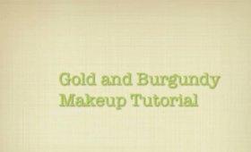 Gold and Burgundy Makeup Tutorial