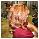 """From blonde to red! The most popular colors I've seen this fall are warmer """"orangey-reds""""!!!"""