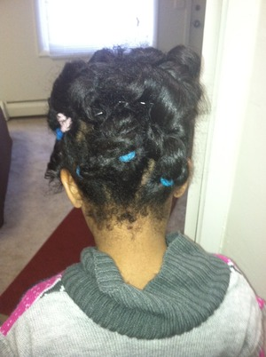 Just twist couple of braids and put it into pony tail .... Excuse the lil baby hairs... Forgot add lil hair gel lol